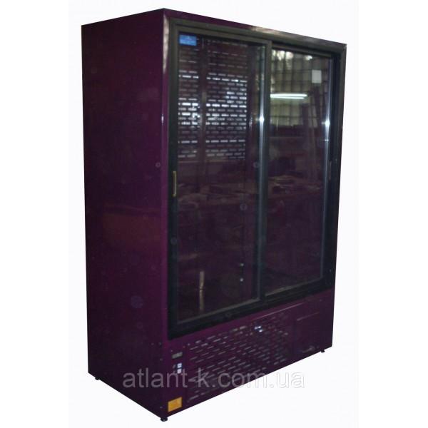 Шкаф холодильный ШХС-1.2, 1200л, (0..+8), с раздвижными стеклянными дверьми